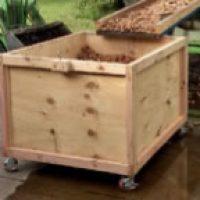 Walnut transporting and drying bin